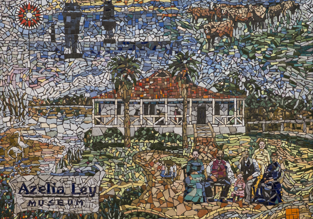 Mosaic, created by participants of the federal government's 'Work for the dole' scheme. ~ Donated by the City of Cockburn.