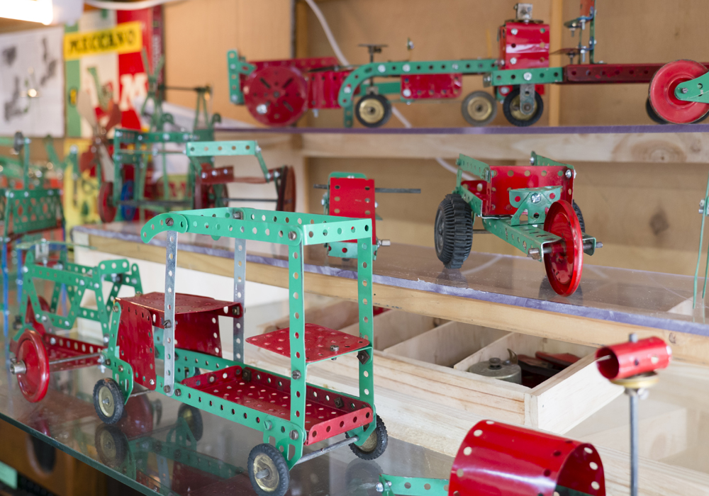 Meccano was a metal Construction Toy kit of the 1900's.