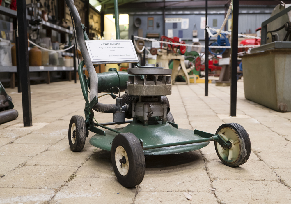 "Original Victa rotary lawn mower c.1940. ~ Donated by <a href=""http://www.lakesidemowersandmotorcycles.com.au/"">Lakeside Mowers.</a>"