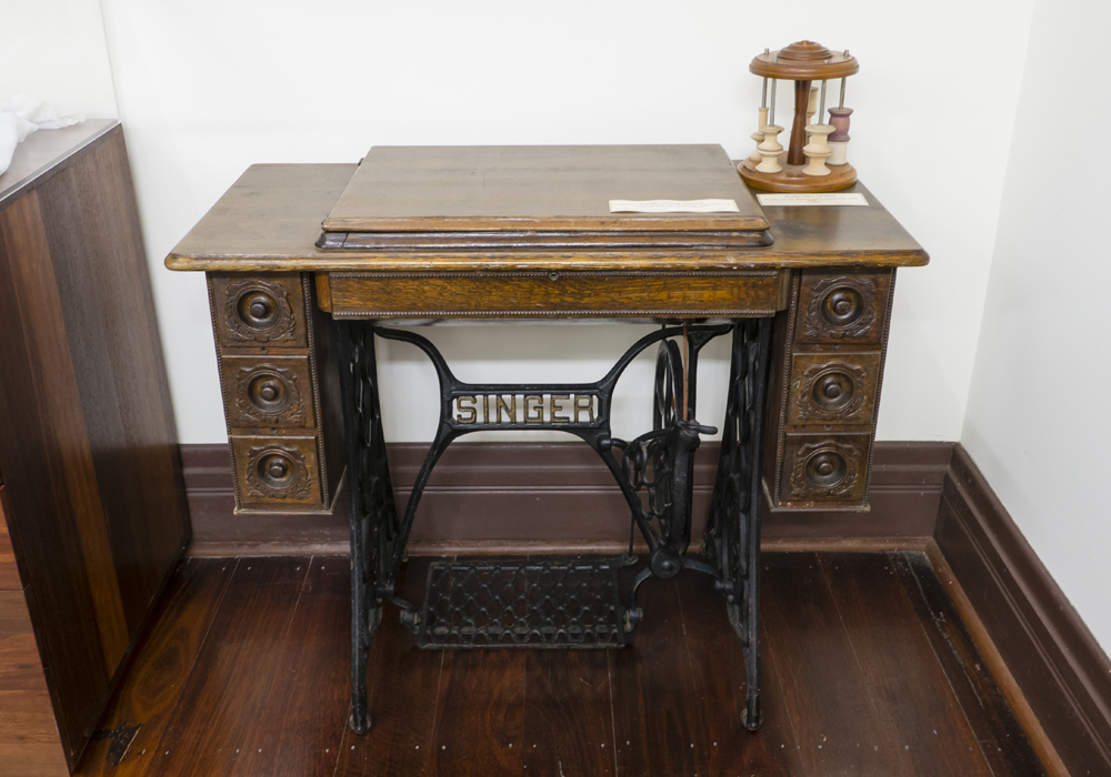 Singer Lockstitch treadle sewing machine. c.1900-1910. ~ Donated by Mr. Rod Brown.
