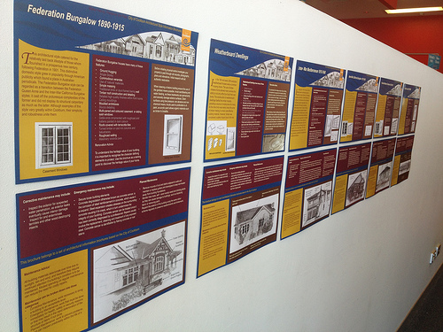 Architectural style brochures on display at Success Public Library.