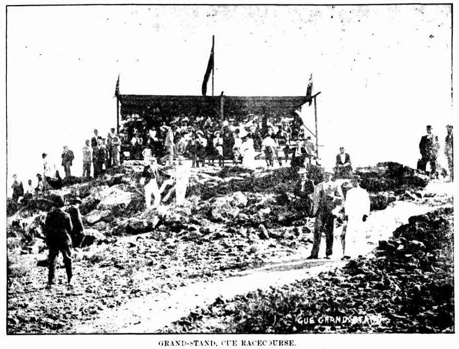 Cue Racecourse grandstand Western Mail 12 Nov 1897.