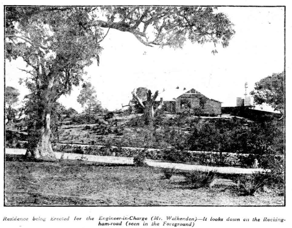 Residence under construction at Cockburn Sound Naval Base, 1913