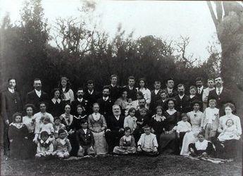 James Hammond and family on the market garden, 1909